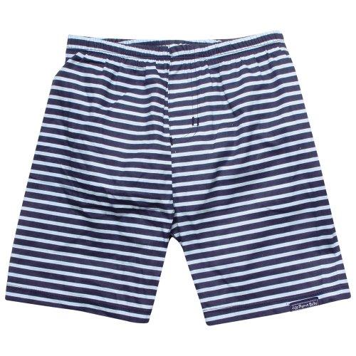 JoJo Maman Bébé - Short de Bain Rayé Bleu Marine/Bleu 6 à 12 Mois