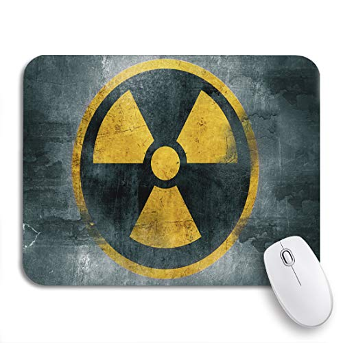 Adowyee Gaming Mouse Pad Yellow Nuclear Radioactive Symbol Reactor Sign Hazard Radiation Waste 9.5'x7.9' Nonslip Rubber Backing Computer Mousepad for Notebooks Mouse Mats