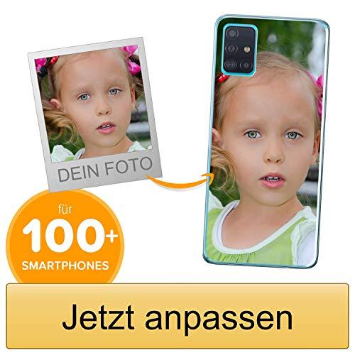 Coverpersonalizzate.it Handyhülle für Samsung Galaxy A71 mit Foto-, Bildern- oder Text selbst gestalten- Die Handyhülle ist aus weichem transparentem TPU-Silikon-Gel Material