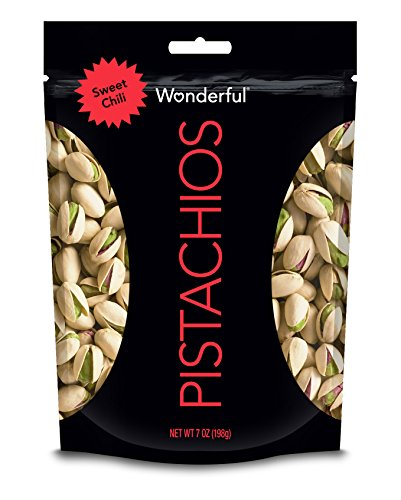 Wonderful Pistachios Sweet Chili Pouch, 7 Ounce, Packaging May Vary