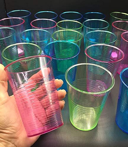 24 Vasos de Plástico acrilico Coloridos - 450 ml Reutilizables Copas de...
