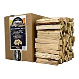 Carolina Cookwood Pizza Oven Wood 6 Inch Mini Splits for Portable Wood Fired Pizza Makers and Wood Burning Ovens Naturally Cured White Oak Cooking Firewood