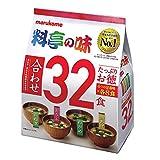 マルコメ インスタント味噌汁 たっぷりお徳料亭の味 1袋(32食)