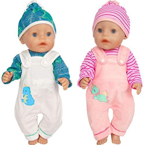 ebuddy Puppenkleidung für 43 cm Neugeborene Babypuppen / 15 Zoll Bitty Babypuppen