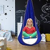 YOMERA Swing Pod, Seduta Pensile per Amaca Bambini con Cuscino Gonfiabile e Kit di Ferramenta Amaca Sedia Altalena per Esterni Sedile Sospeso per Interni Sedia Altalena per Bambini