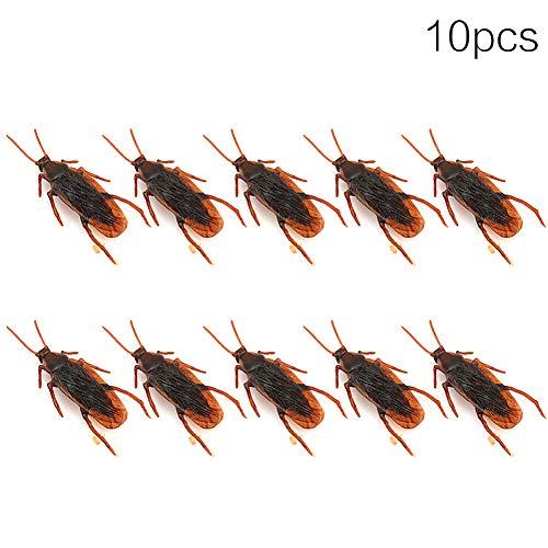 SMARTRICH Gli scarafaggi Finti, i Giocattoli realistici di plastica scherzano Gli Insetti di novità per Le Decorazioni di favori di Partito