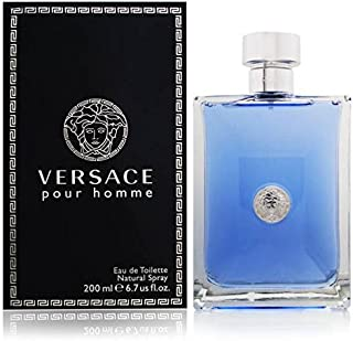 Versace Pour Homme Eau de Toilette Spray for Men, 6.7 Ounce