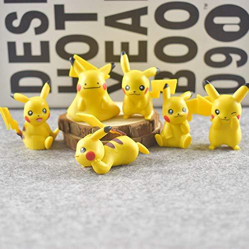 N / A Pokemon Hand Pokemon Pokemon Pokemon Tekken Große Pikachu-Puppe Modell 4 Generation Pikachu 6 Models_Spot Pikachu-Puppe Modell- Handgemacht Gute Qualität Kreatives Design Innendekorationen
