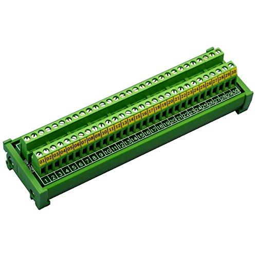 Electronics-Salon DIN-Reihenklemme, 30Positionen, 30A/ 300V, Schraubklemmleisten-Verteilermodul