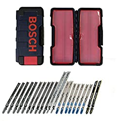 Bosch 21-Piece T-Shank Contractor Jig Saw Blade Set TC21HC For Plywood