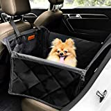 Looxmeer Seggiolino Auto per Cani, Trasportino per Cani Auto Impermeabile Antistrappo Antiscivolo per Cani di Piccola e Media Taglia con Cintura di Sicurezza Universali per Auto SUV Camion