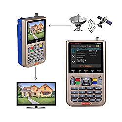 commercial free tv satellite receiver GT MEDIA V8 Satellite Finder TV Measuring Device DVB-S / S2 / S2X Signal Receiver H.264 Satellite Detector, HD 1080P Free Air Free FTA 3.5 inch LCD Screen Built-in 3000 mAh Battery for Satellite Reception Settings