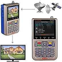GT MEDIA V8 Satellite Finder Meter TV DVB-S/S2/S2X Signal Receiver H.264 Sat Detector, HD 1080P FTA 3.5