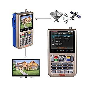 GT MEDIA V8 Sat Finder Meter Localizador de señal de satélites Digital Buscador de Satélite Medidor de Campo HDTV DVB-S/S2/S2X, 3.5