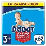 Dodot Pants Mainline Pañal-Braguita Talla 3+, 62 uds, 6-11kg