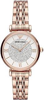 ساعة يد للنساء من امبريو ارماني، لون ذهبي وردي