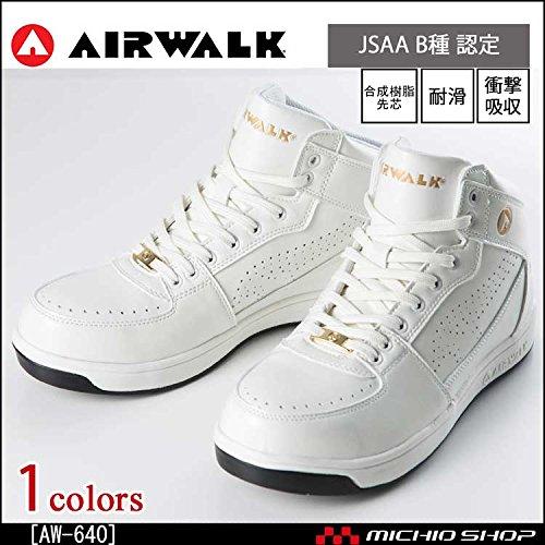 ユニワールド 安全靴 エアウォーク ミドルカット セーフティーシューズ AW-640Color:aw-640 ホワイト 26.0