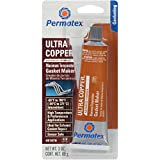 Permatex 81878 Ultra Copper Maximum Temperature RTV Silicone Gasket Maker, 3 oz. Tube