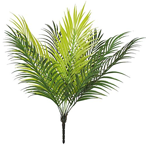 "Bird Fiy 20"" Artificial Palm Leaf Bush Greenery Plants Faux Fake Tropical Palm Fronds Plant 9 Leaves Palm Tree for Home Party Wedding Decorations"