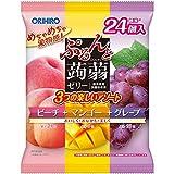 オリヒロ ぷるんと蒟蒻ゼリーパウチ 大袋 ピーチ+マンゴー+グレープ 480g