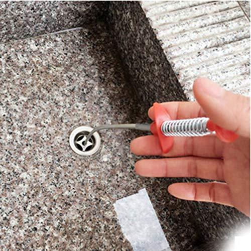 ShenyKan Küche Badezimmer Abflussreiniger Kolben Kurzgriff Pipeline Bagger Haushalts Waschbecken Kanal Bagger Home Gadget
