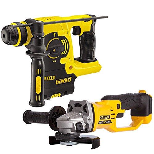 DeWalt DCH253N 18V XR Li-Ion SDS Plus Hammer Drill + DCG412N Angle Grinder
