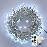 Qedertek Catena Luminosa, Cavo trasparente, Luci Stringa 23 Metri 200 LED, Addobbi Nataliz...