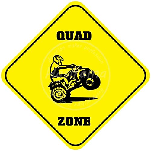 niet Quad Zone Tin Wall Sign Metalen Retro Poster Iron Warning Signs Vintage Opknoping Art Plaque Yard Garden Cafe Bar Pub Openbaar Gift 8X8 Inch
