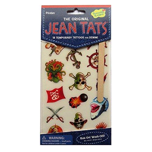 L'original Jean / Denim / Tissu Tatouages - Pirates - par Peaceable Kingdom