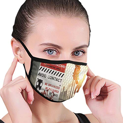 Maske Comfortable Windproof mask,Dead Man Walking In Dark Danger Scary Scene Fiction Halloween Infection Picture,Printed Facial Decorations for Women and Men