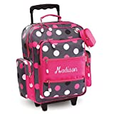 Personalized Rolling Luggage for Kids – Grey Multi-Dots Design, 20
