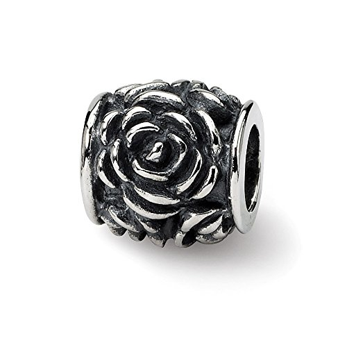 Hermosa plata esterlina reflexiones Rose Bali Bead