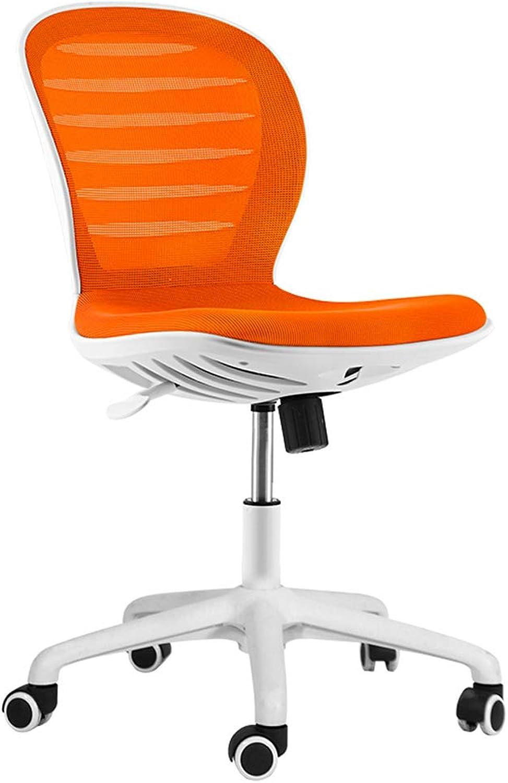 Computer Chair Fashion Office Lift Chair Desk Mesh Chair Computer Computer Chair Home Office Chair Learn Chair Fashion Home Chair Desk Chairs (color   orange, Size   No armrest)