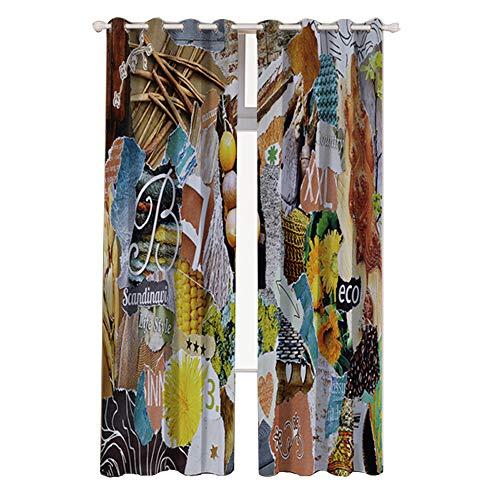 PUDDINGHH® Rideaux de Chambre à Coucher Isolants Thermiques Super Doux de Traitement de Fenêtre de Chambre à Coucher Blackout,132 * 215cm