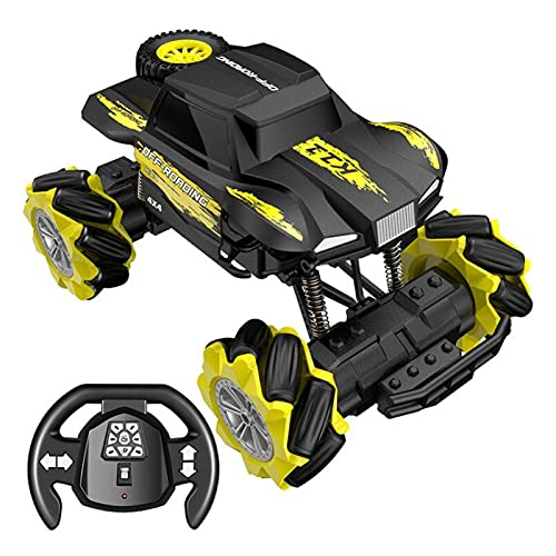 Kikioo 1:16 RC Car Drift Stunt Car Climber Rock Crawler Car Remote Control Monster Reptile Truck Off-road 4x4 2.4Ghz RC Stunt Car 360 ° Flip Climbing Vehicle Coche de control remoto para niños adultos