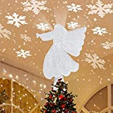 Christmas Tree Topper, Angel Tree Topper, Christmas Tree Toppers with Rotating Snowflake...