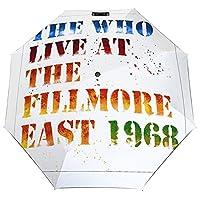 The Who Live At The Fillmore East, 1968雨伞 折りたたみ傘 自動開閉 軽量 大きい 8本骨 UVカット 耐風撥水 収納袋付き 日傘 携帯便利 晴雨兼用 紫外線対策 レディース 耐強風 メンズ