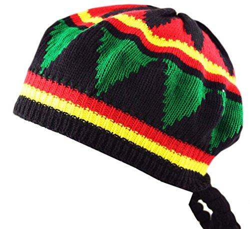 Itzu Fancy Dress Adults Unisex Rastafarian Jamaican Rasta Tam Beanie Hat & Dreadlocks Hair