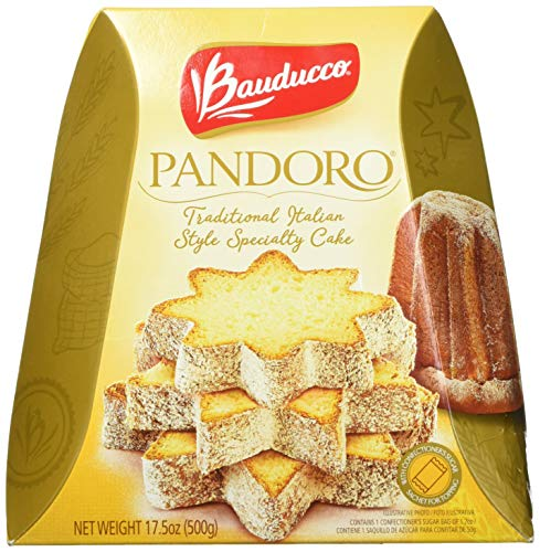 Bauducco Pandoro - Light and Moist Specialty Cake, No Candied Fruits, Ideal for Dessert - 17.5 oz