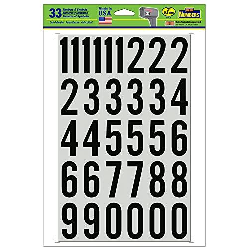 Hy-Ko Products MM-7N Self Adhesive Vinyl Numbers 2