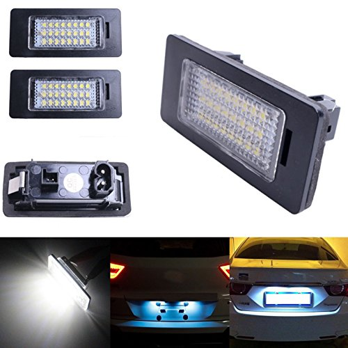 Ricoy 24 LEDs zur Kennzeichenbeleuchtung für E81 E82 E90 M3 E92 E70 E39 F30 E60 E61 E93, 6000 K (2er-Packung)