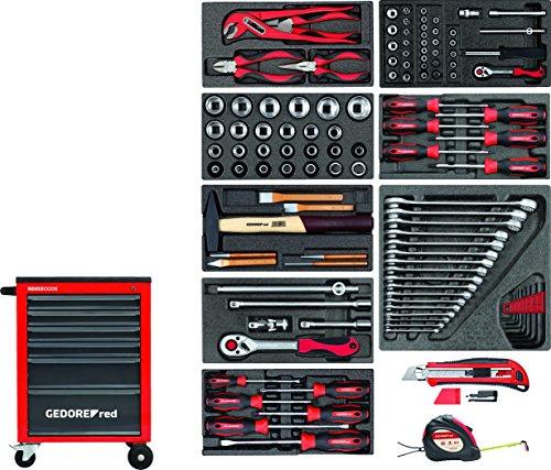 GEDORE red Werkzeugsatz im Werkstattwagen MECHANIC 119-teilig