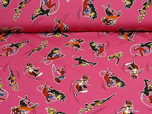 Ladybug, Cat Noir, Queen Bee, Rena Rouge Jersey, Öko-Tex Standard, pink (25cm x 160cm)