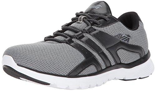 Avia Men's Avi-Mania Running Shoe, Frost Grey/Black, 12 M US