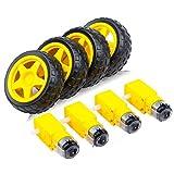 Dc Juguete Motor De La Rueda Robot Kit Smart Car, 4.5v Dc...