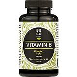 BeSoHappy Vitamin BKomplex Forte(180Kapselnfür6Monate) –LaborgeprüftundGetestetin Deutschlandl mit Vitamine B12,B1, B2, B3, B4, B5, B6, Biotin, FolsäurelVegan,Glutenfrei & Lactosefrei