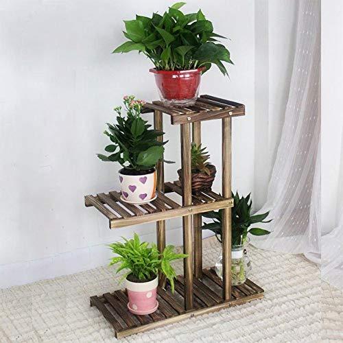 YINUO Petit Simple Fleur Stand En Bois Massif Salon Balcon Simple En Bois Moderne Minimaliste Clearance Mini Multicouche Bois couleur Taille: 54x25x68cm