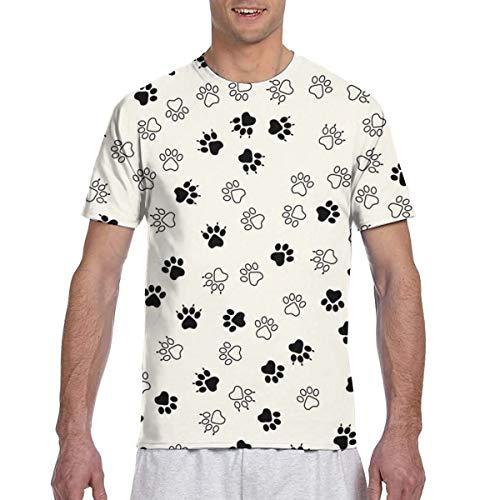 Colorido Animal Paw Prints Seamless Full 3D Impreso Camiseta Plus Size Cool Printing Top Blusa XL