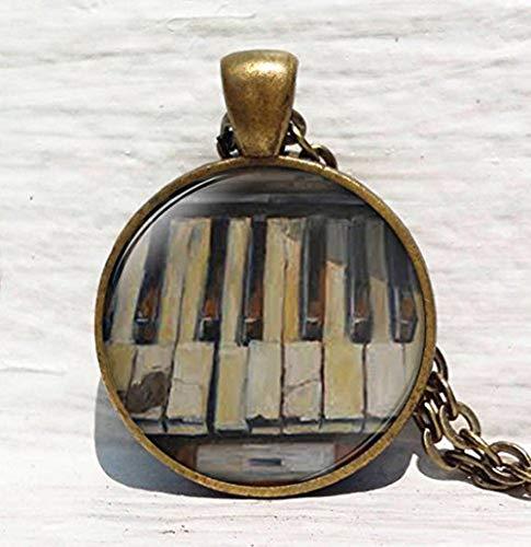 Vintage Klavier, Pianist Musiker, Klavier Tastatur Anhänger