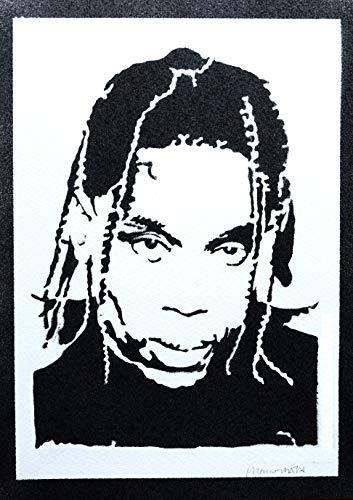 Poster Travis Scott Grafiti Hecho a Mano - Handmade Street Art - Artwork